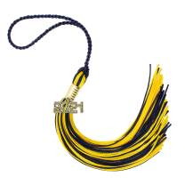 2021 Navy/Gold Graduation Tassel - Every School Color Available -Made in USA
