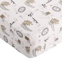 Levtex Baby Tanzania Fitted Sheet 100% Cotton, Black/Cream