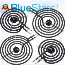 "Ultra Durable MP22YA Electric Range Burner Element Unit Set - 2 pcs MP15YA 6"" & 2 pcs MP21YA 8"" Replacement Part by Blue Stars - Exact Fit For Whirlpool Kenmore Jenn-Air Maytag Electric Range Stove"