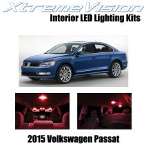 XtremeVision Interior LED for Volkswagen Passat 2015+ (9 Pieces) Red Interior LED Kit + Installation Tool