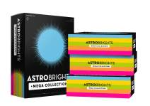 """Astrobrights Mega Collection, Colored Paper,""""Classic"""" 5-Color Assortment, 2500 Sheets, 24 lb/89 gsm, 8.5"""" x 11"""" - MORE SHEETS! (91623-02)"""
