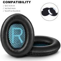 Replacement Ear Pads for Bose QC15 QC25 Memory Foam Also Fits QuietComfort 2/QC35/QC35 II/Ae2 / Ae2i / Ae2w / SoundLink 1&2/SoundTrue 1&2 Around-Ear (Blue mats)