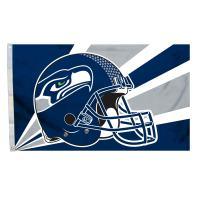 Fremont Die NFL Seattle Seahawks 3' x 5' Flag with Grommets, 3 x 5-Foot, Helmet