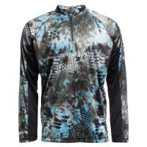 Kryptek Zephyr Long Sleeve 1/2 Zip Camo Shirt - Quick-Dry Fabric for Fishing & Swimming, UPF 30 UV Sun Protection (K-Ore Collection)
