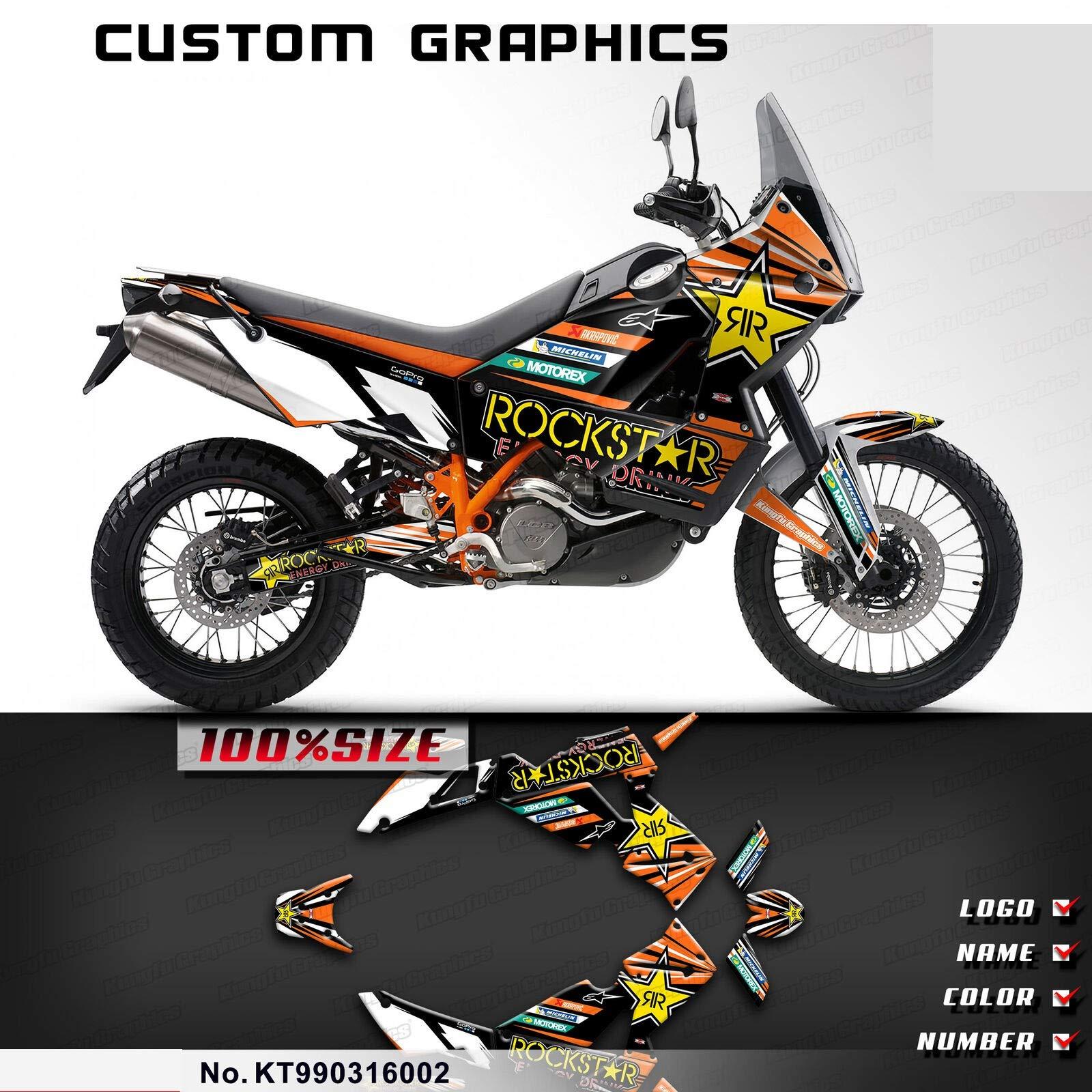 Kungfu Graphics Custom Decal Kit for 2003 2004 2005 2006 2007 2008 2009 2010 2011 2012 2013 2014 2015 2016 950ADV 950 ADV 990ADV 990 ADV Adventure,KT990316002