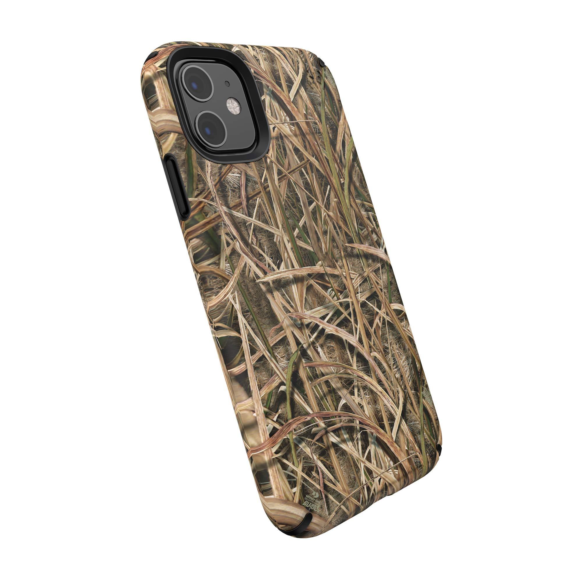 Speck Presidio Inked iPhone 11 Case, Mossy Oak Shadow Grass Blades/Black