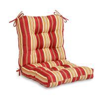 Greendale Home Fashions AZ4808-ROMASTRIPE Tuscan Stripe 38'' x 21'' Outdoor Seat/Back Chair Cushion