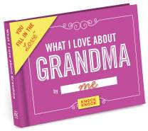 Knock Knock What I Love about Grandma Fill in the Love Book Fill-in-the-Blank Gift Journal, 4.5 x 3.25-inches