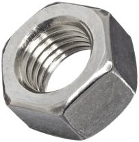 """316 Stainless Steel Hex Nut, Plain Finish, ASME B18.2.2, 1-1/4""""-7 Thread Size, 1-7/8"""" Width Across Flats, 1-1/16"""" Thick"""