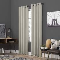 "Sun Zero Soho 2-Pack Energy Efficient Blackout Grommet Curtain Panel Pair, 54"" x 84"", Pearl"