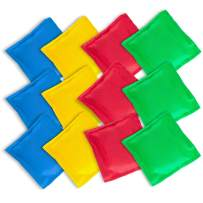 """Super Z Outlet Nylon Cornhole Bean Bags Toy Set Sack Hand Toss Games Weights for Kids (5"""" x 5"""" Assorted Colors) (12 Pack)"""