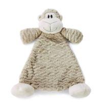 Meekie Monkey Light Brown Children's Plush Rattle Blankie
