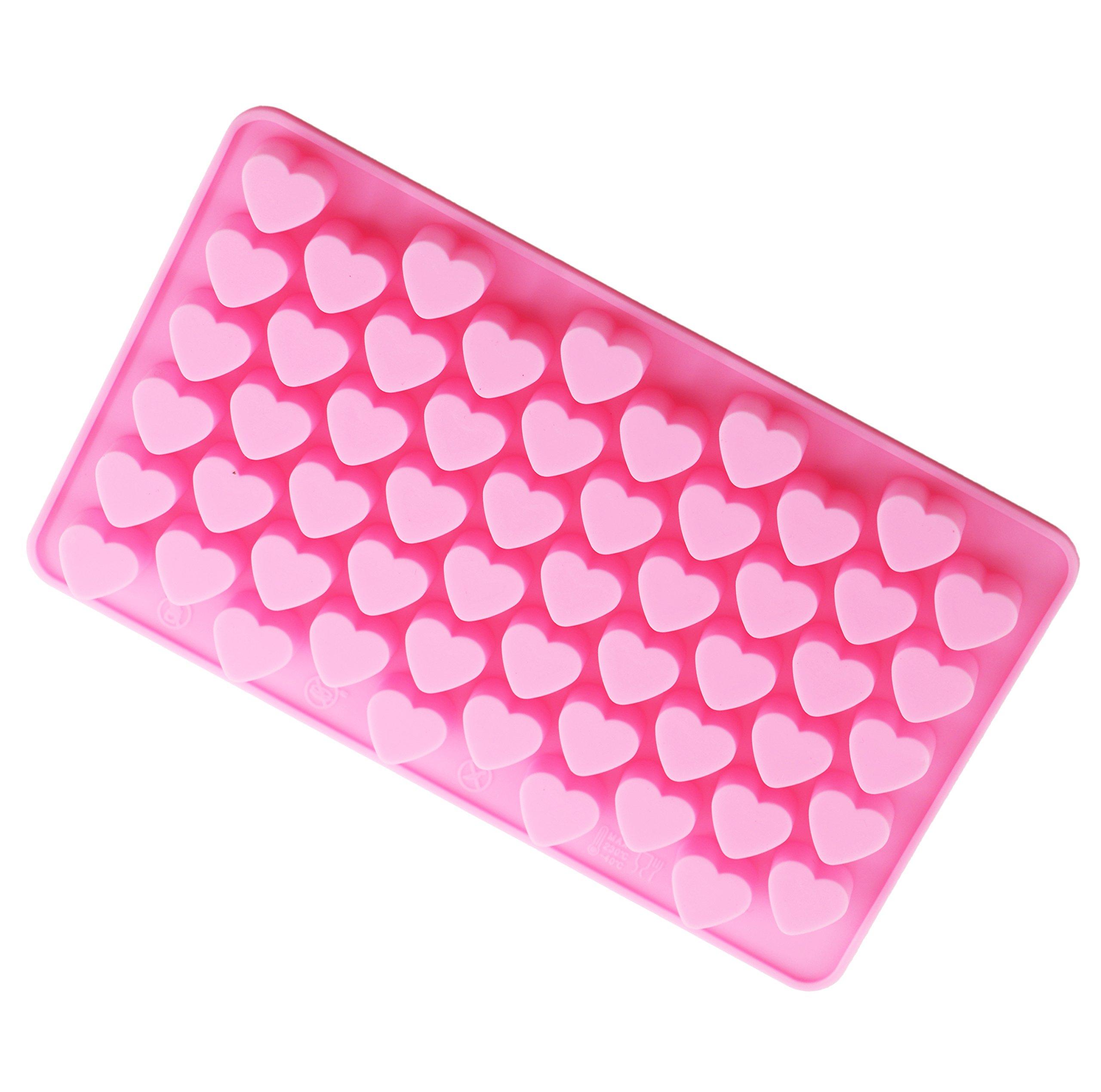 Bestjybt Silicone Mini Heart Shape Silicone Ice Cube Candy Mold Chocolate Mold