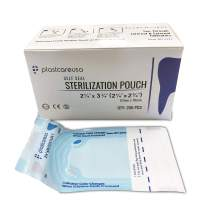 "2000 Bulk Sterilization Pouches, Sterilizer Autoclave Bags for Sterilizing Cleaning Medical and Dental Instruments Tools, 10 Boxes of 200 (2.25"" x 2.75"")"