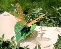 CUTPOPUP Mothers Day Pop Up Card with Gorgeous Dragonfly for Grandma Grandkids- Unique Design Includes Elegant Envelope- Ideal Gift for Daughter Mother Animal Lovers in Birthday Thanks Giving