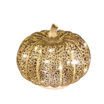 Romingo Mercury Glass Pumpkin Light with Timer for Halloween Pumpkin Decorations Fall Decor,Silver, 5.5 inches