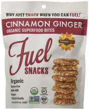 Foodie Fuel Cinnamon Ginger Fuel Snacks, 4 Ounce Bag (6 pack), Paleo Snack Made with Sunflower Seeds Pumpkin Seeds Flax Seeds, Non-GMO Certified Organic Gluten Free Paleo-Friendly Vegan