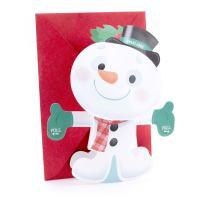 Hallmark Displayable Christmas Card for Kid with Song (Snowman Plays We Wish You A Merry Christmas)