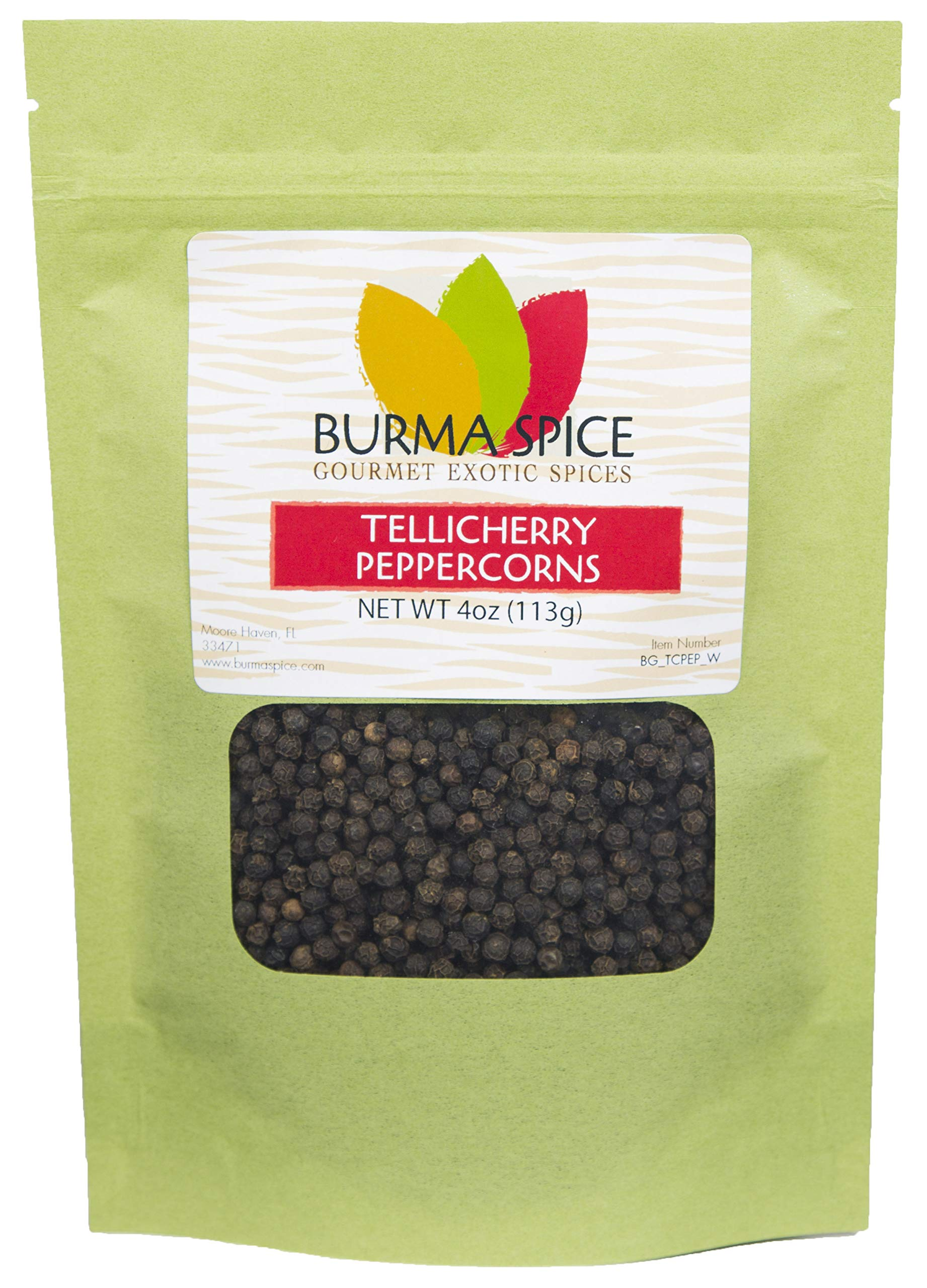Black Peppercorns Jumbo | Tellicherry Black Pepper | All-Uses International Cuisine Spice 4 oz.