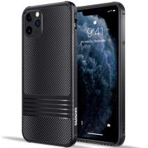 Doudounes iPhone 11 pro Case, Air Armor Stylish Flexible TPU Cover Shell [Hidden Buttons] [Stereo Sound] [Anti-Scratch] with Shockproof Bumper Case Compatible for iPhone 11 pro, (Black)