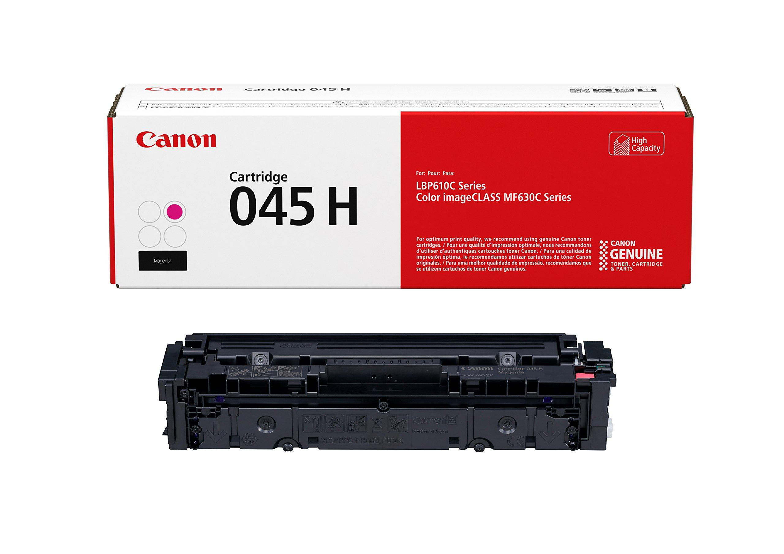 Canon Genuine Toner, Cartridge 045 Magenta, High Capacity (1244C001), 1 Pack, for Canon Color imageCLASS MF634Cdw, MF632Cdw, LBP612Cdw Laser Printers