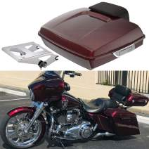 Advanblack Mysterious Red Sunglo Razor Tour Pak 2015 Tour Pack Mount Fit for 2014-2020 Harley Touring Street Glide Road Glide Electra Glide