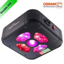 GROWant LED Grow Lights for Indoor Plants Veg and Flower, 80 Watts Full Spectrum with UV and IR for 2'x2' Tent, Durable OSRAM LEDs, Aluminum Housing with Daisy Chain【Size-Color Optional】