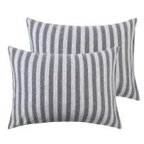 """NTBAY Organic Cotton Toddler Pillowcases, 2 Pcs Soft and Breathable Travel Pillow Cases, 13""""x 18"""", Grey"""