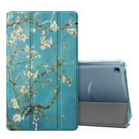 Fintie Slim Case for All-New Amazon Fire 7 Tablet (9th Generation, 2019 Release), Lightweight Slim Shell Translucent Frosted Back Cover with Auto Sleep/Wake, Blossom