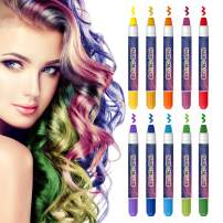 COOLKESI Hair Chalk for Girls Gifts,10 Bright Colors Temporary Hair Chalk Pens, Washable Hair Color Chalk Set Safe for Kids, Teen, Popular Chalks on Birthday Cosplay Christmas Party Makeup