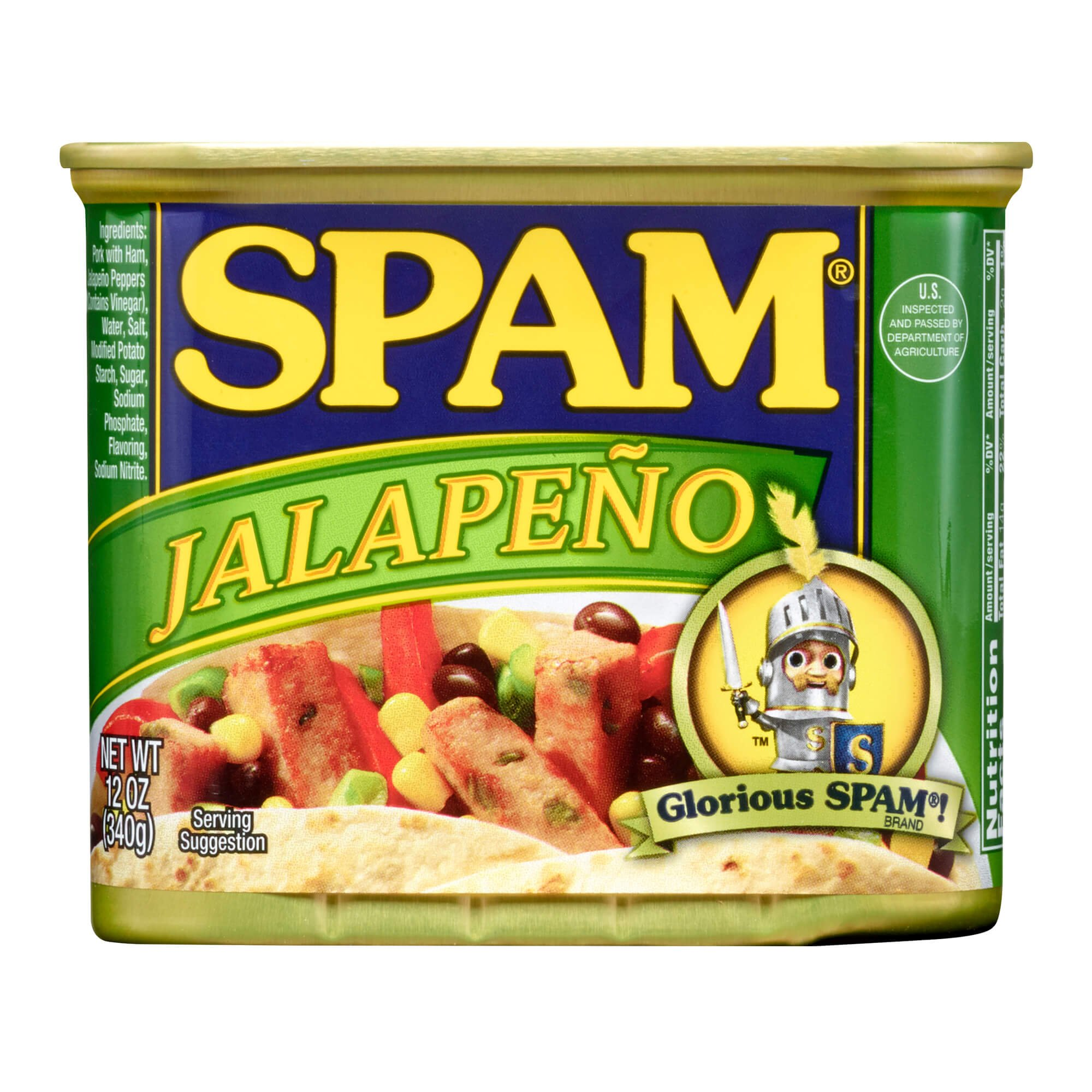 Spam Jalapeño, 12 Ounce Can (Pack of 12)
