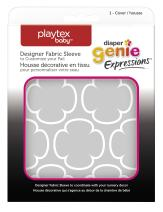 Diaper Genie Playtex Expressions Fabric Sleeve, Grey Clovers