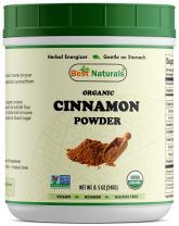 Best Naturals Certified Organic Cinnamon Powder 8.5 OZ (240 Gram), Non-GMO Project Verified & USDA Certified Organic