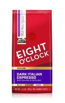 Eight O'Clock Ground Coffee, Dark Italian Espresso, 11.5 Ounce (Pack of 6)