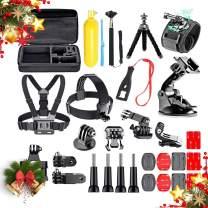 Action Camera Accessories Kit for GoPro Hero 8/Hero 7 Black/Hero 6 5 Mojosketch Accessory Bundle Set for AKASO EK5000 EK7000 4K WiFi Apeman DJI OSMO Action SJ6000 DBPOWER AKASO VicTsing Rollei Lightdo