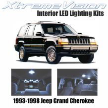 Xtremevision Interior LED for Jeep Grand Cherokee 1993-1998 (9 Pieces) Cool White Interior LED Kit + Installation Tool