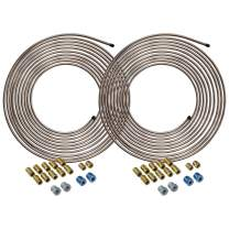 4LIFETIMELINES Copper-Nickel Brake Line Tubing Coils and Fittings, 2 Kits, 1/4 x 25