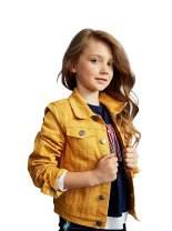 kidpik Girls Jean Jacket – Cute Colored Denim Jackets