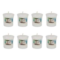 Home Traditions Single Wick Evenly Burning Highly Scented Votive Candle, Set of 8  (1.8 Oz Each) For Wedding, Birthday, Holiday, & Home Décor - Coconut Breeze