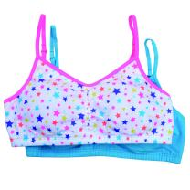 Fruit of the Loom Big Girls' Cotton Bralette ()(Pack of 2)