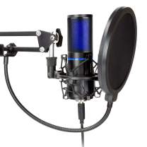 STRMD USB Microphone (Cardioid), Green Screen, Shock Mount, Tripod, Scissor Mic Stand, Pop Filter & Wind Shield Ideal for Zoom, Skype, Twitch & YouTube Equipment