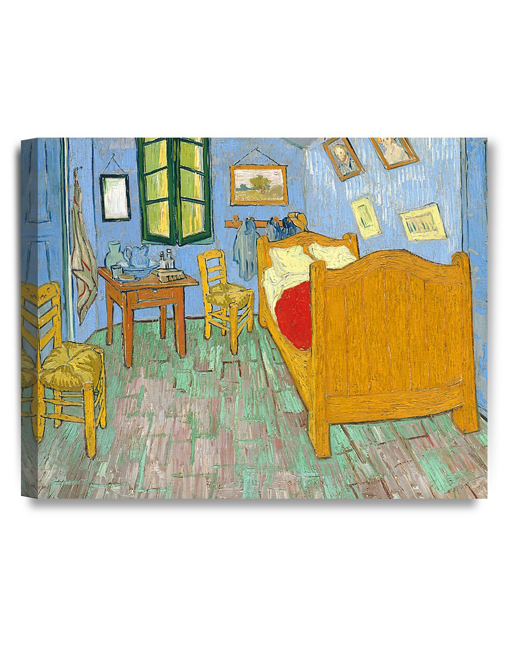 DECORARTS - Bedroom in Arles (Third Version), Vincent Van Gogh Art Reproduction. Giclee Canvas Prints Wall Art for Home Decor 20x16