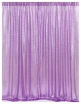 B-COOL 8ftx8ft Lavender Sparkly Sequin Backdropcurtain for Photography Background Wedding Christmas Birthday party Decoration