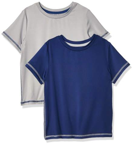 Amazon Essentials Boys' Active Performance Short-Sleeve T-Shirts