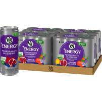 V8 +Energy, Healthy Energy Drink, Natural Energy from Tea, Pomegranate Blueberry, 8 Ounce Can (4 Packs of 6, Total of 24)