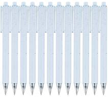 RIANCY Simple Style Wheat-Straw Patterns Quick Dry Retractable Gel Ink Pens, 0.5mm Fine Point, Blue Barrel Black Ink, Refillable Ballpoints Pen, Writing Roller Pens for Office School or Home (Blue)