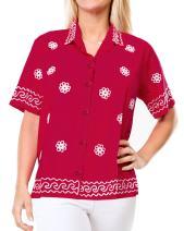 Ladies Hawaiian Shirt Beach Top Aloha Blouses Tank Casual Holiday Button Up