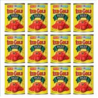 Red Gold Diced Tomatoes, 28oz Can (Pack of 12)