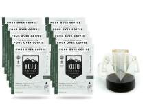 Kuju Coffee Premium Single-Serve Pour Over Coffee | Fair Trade Certified, USDA Organic, Single Origin Coffee, Eco-Friendly | Indonesia - West Sumatra, 10-pack