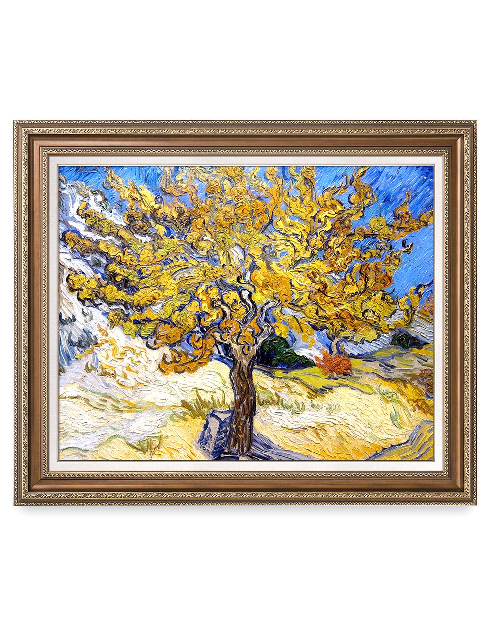 DECORARTS - The Mulberry Tree, Vincent Van Gogh Art Reproduction. Giclee Print& Framed Art for Wall Decor. 30x24, Framed Size: 35x29